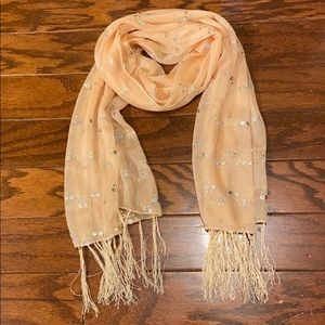 Sheer Sequined Scarf
